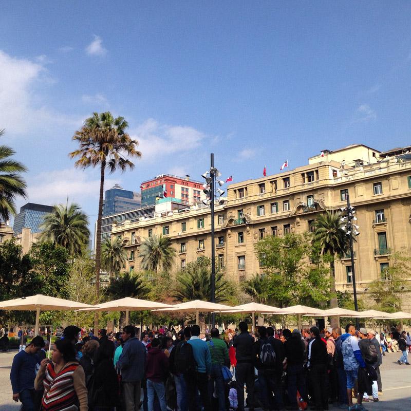 plaza armas santiago