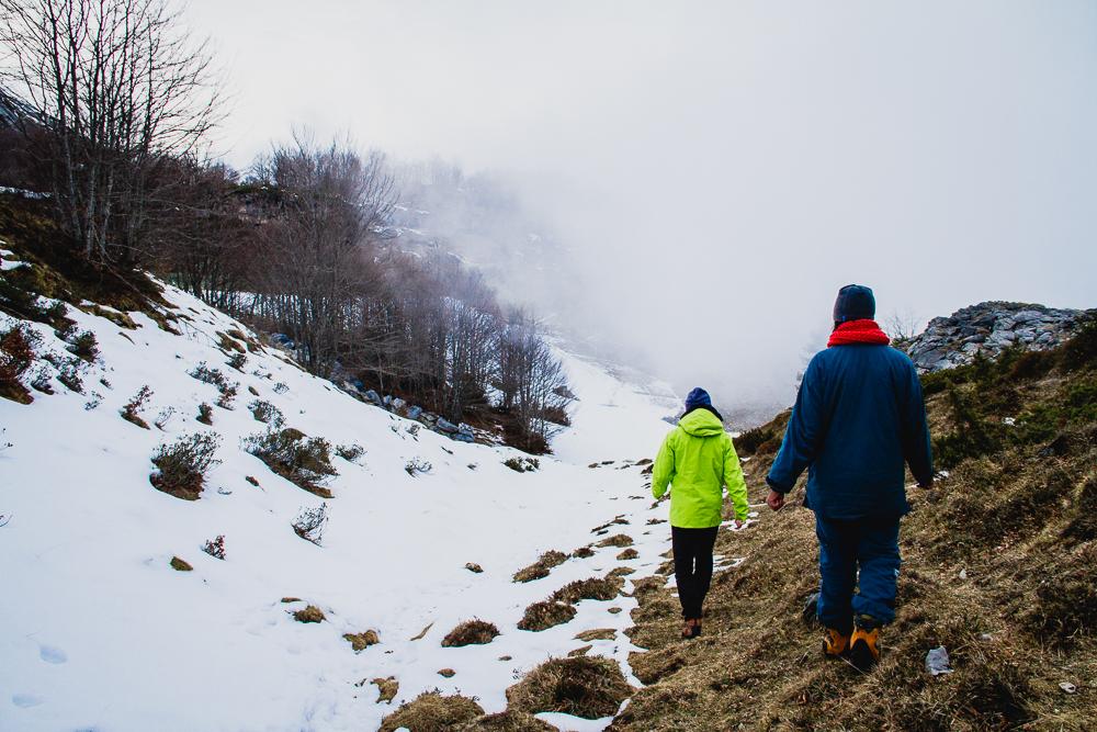 randonnée neige Gourette