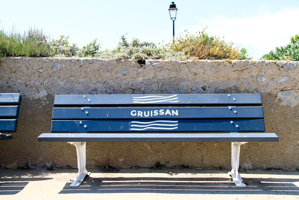 banc bleu port gruissan
