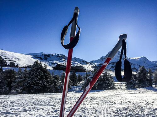 batons de ski de fond en Andorre