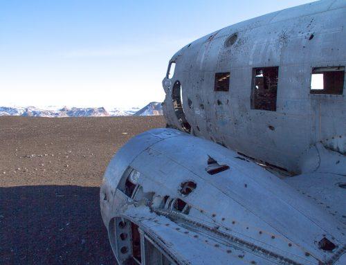 La carcasse d'avion en Islande
